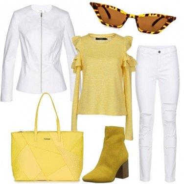 Outfit Il bianco e il giallo