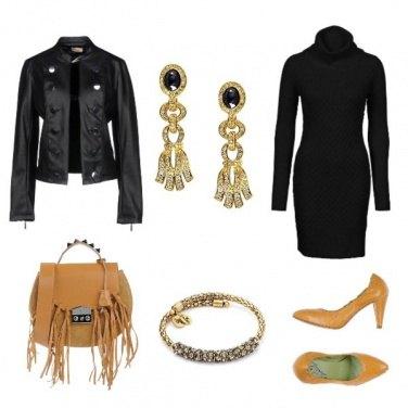 Outfit Accessori beige e dorati