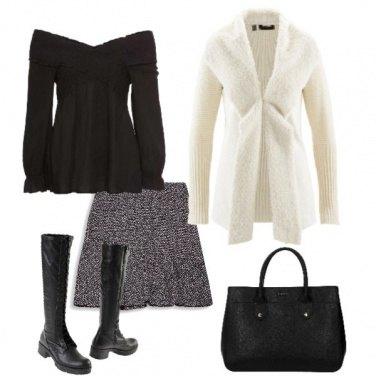 Outfit Minigonna e stivali