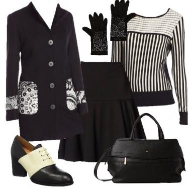 Outfit Bianco e nero da giorno