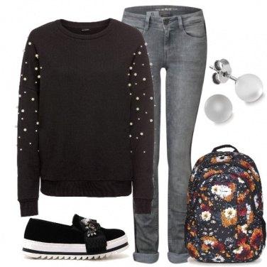 Outfit Urban style - la felpa con le perle!!!