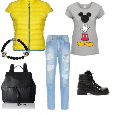 Outfit Yellow Rock