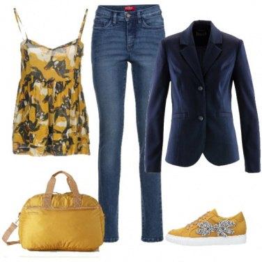 Outfit Adoro il giallo