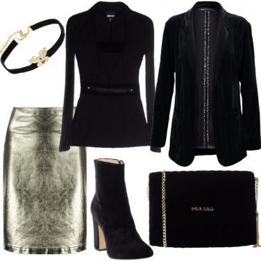 Outfit Capodanno in velluto