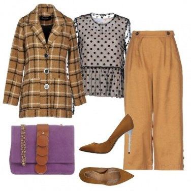 Outfit Quadri e pois