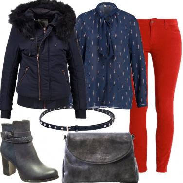 Outfit Blu in inverno