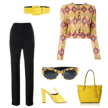 Outfit Cena in giallo