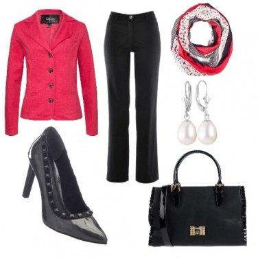Outfit Settembre rosso e nero