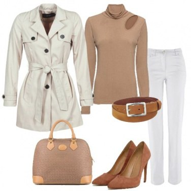 Outfit Il trench avorio