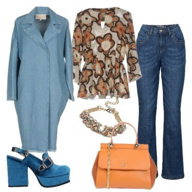 Outfit Spolverino in jeans
