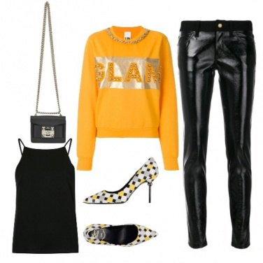 Outfit Felpa glam!