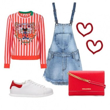 Outfit Sporty in red