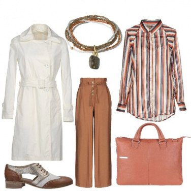 Outfit Autunno a righe