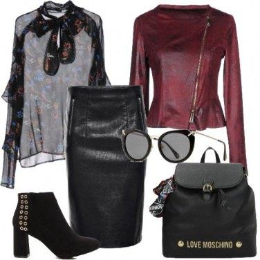 Outfit Rock e trasparenze
