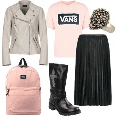 Outfit Sporty punk in vero street-style