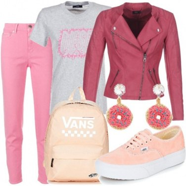 Outfit Passeggiata in rosa