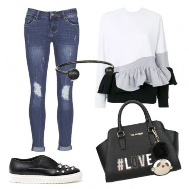 Outfit Denim, slip on and love