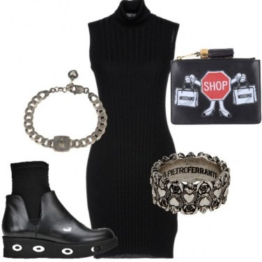 Outfit Black hearts