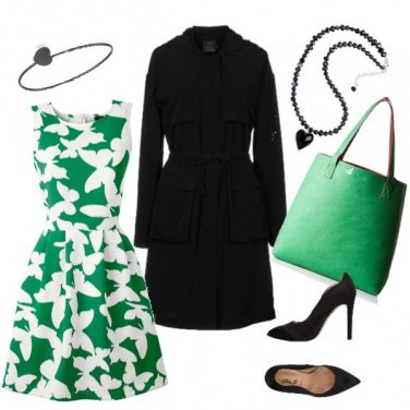Outfit Office green