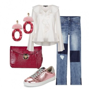 Outfit Rouches e jeans
