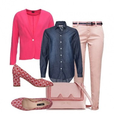 Outfit Rosa e jeans