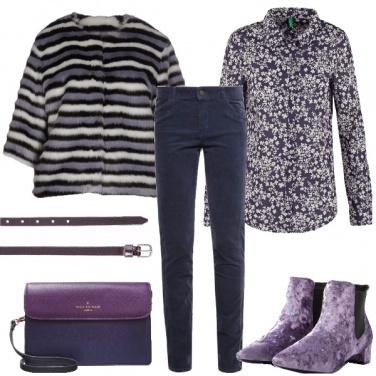 Outfit Blu e lilla