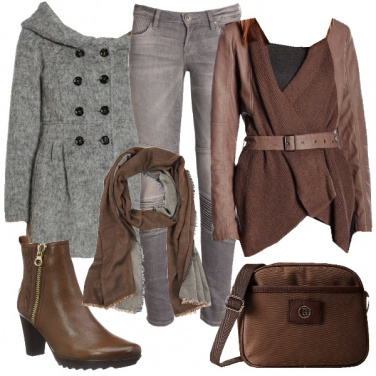 Outfit Il cardigan in pelle