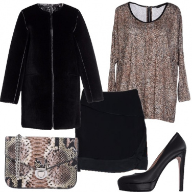 Outfit Grandi affari per un look animalier