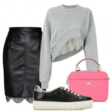 Outfit Felpa cropped