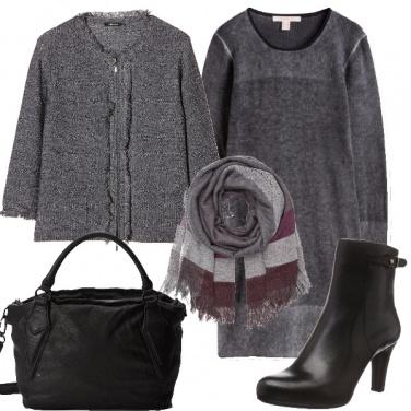 Outfit La sobrietà del grigio