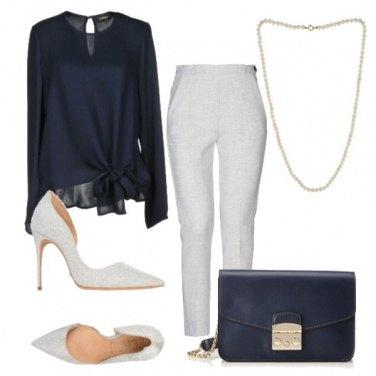 Outfit Eleganza in blu e grigio