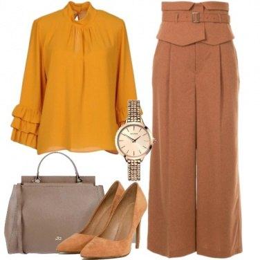 Outfit Ocra e marrone