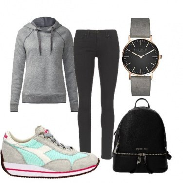 Outfit Casual in felpa