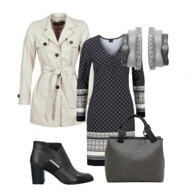 Outfit Trench e abito