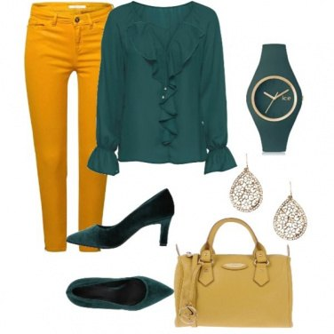 Outfit Yellow glamour