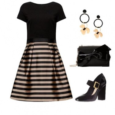 Outfit Mary Jane di vernice