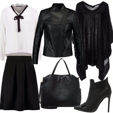 Outfit Collegiale un po\' rock
