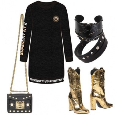 Outfit Rock the night