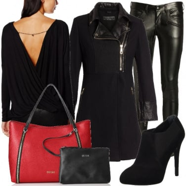 Outfit Una punta di rosso