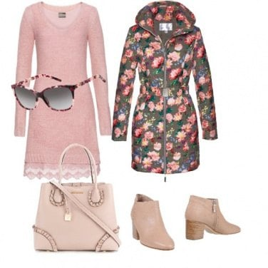 Outfit Trench in rose