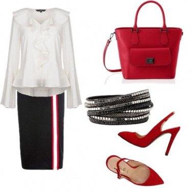 Outfit Rosso per il giorno