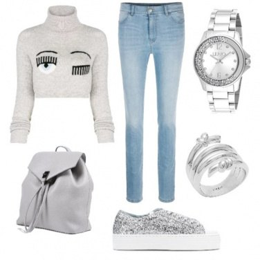 Outfit Casual grigio