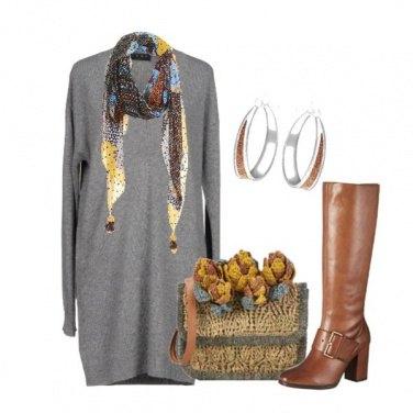 Outfit Clutch e Stivali