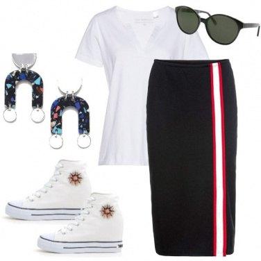 Outfit Longuette e zeppe