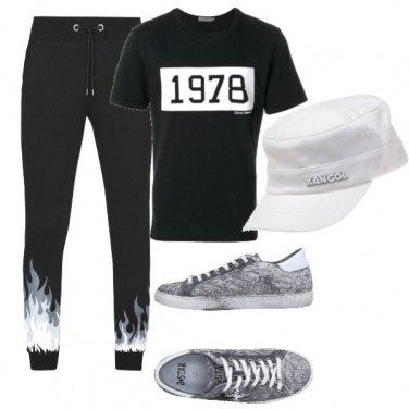Outfit Con le fiamme grigie