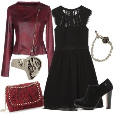 Outfit Pizzo, pelle e rock\'n roll