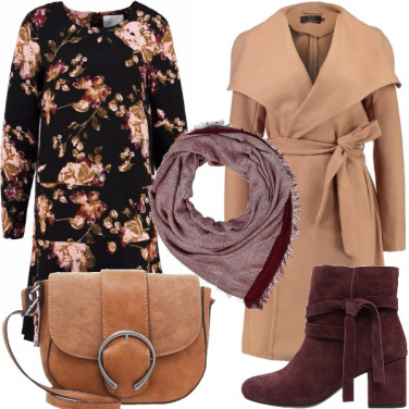 Outfit Inverno in fiore