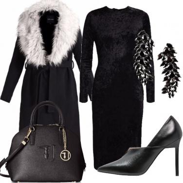 Outfit Total black per le feste