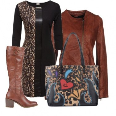 Outfit leopard woman