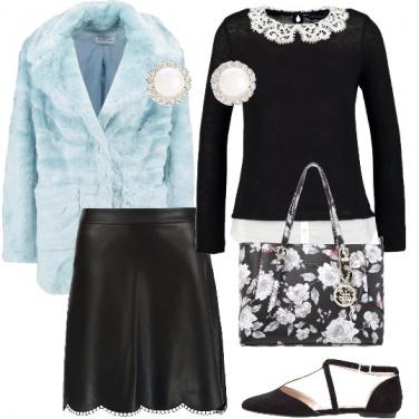 Outfit Nero e pastello